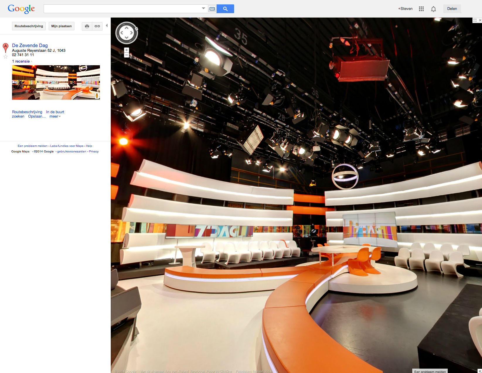 VRT Virtueel - Google virtual tour van De Zevende Dag